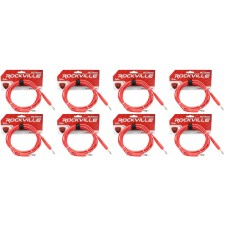 8 Rockville RCTR110R Red 10' 1/4'' TRS to 1/4'' TRS  Cable 100% Copper
