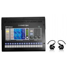 PRESONUS EarMix 16M 16x2 Personal Monitor Mixer+Mackie MP-220 In-Ear Monitors
