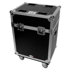 Flight Case w/ Wheels For (2) American DJ Inno Spot Pro Pearl Moving Head Lights