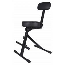 Rockville RDS41 Portable DJ/Guitar/Drum/Keyboard Padded Throne/Chair Adjustable