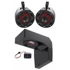"10"" Under-Seat Subwoofer+(2) MTX Tower Speakers For 2014-2017 Polaris Ranger"