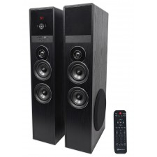 "Tower Speaker Home Theater System+8"" Sub For Samsung NU7100 Television TV-Black"