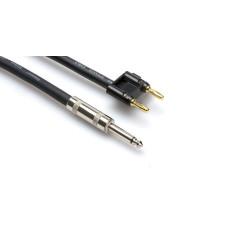 "Hosa SKJ-605-BN 5' Feet 1/4"" TS To Banana 16 Gauge Speaker Wire Cable"