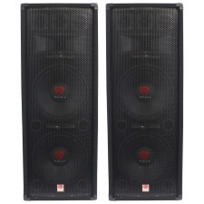"(2) Rockville RSG12.28 Dual 12"" 2000 Watt 8-Ohm Passive Pro Audio PA Speakers"