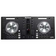 """Numark MixTrack Pro 3 USB/Midi Controller+(2) 12"""" Powered Speakers+Stands+Cables"""