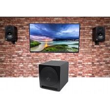 """2 Rockville HTS8B 8"""" 1000w Bluetooth Home Theater Speakers+10"""" Sub+Wall Brackets"""