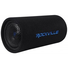 """Rockville RTB65A 6.5"""" 300w Powered Subwoofer Bass Tube + Bass Remote"""