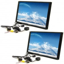 "2 TView 17"" Raw Panel / Flat Screen Car LCD Monitors W/ VGA Input + Remote"