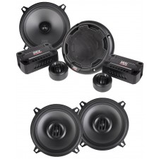 """Pair MTX THUNDER51 5.25"""" 360w Car Component Speakers+(2) 5.25"""" Coaxial Speakers"""