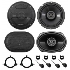 1999-2004 Chrysler 300M Hifonics Front+Rear Factory Speaker Replacement Kit