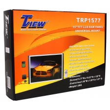 "2) NEW TVIEW 15"" RAW PANEL/FLAT SCREEN LCD CAR MONITORS"