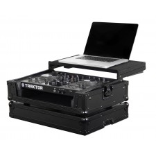 Odyssey FZGSTKS2BL Flight Zone NI Kontrol S2 Black Label DJ Case w/ Laptop Shelf