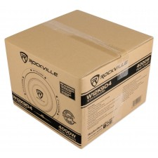 "(2) Rockville W12K9D4 12"" 8000w Subwoofers+Vented Sub Box+Mono Amplifier+Amp Kit"