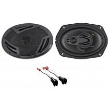 Car Rear Rockville Factory Speaker Replacement Kit For 2003-2011 Lincoln Town