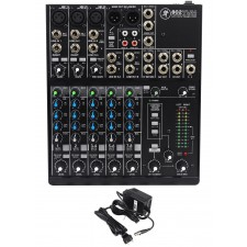 Mackie 802VLZ4 8-channel Compact Analog Low-Noise Mixer w/ 3 ONYX Preamps