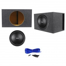 "RE Audio SXX15D4 V2 SXXV2 15"" 1200w RMS Car Subwoofer+Vented Sub Box Enclosure"