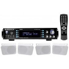 Rockville 1000w Home Theater Bluetooth Receiver+(4) Speakers w/Swivel Brackets
