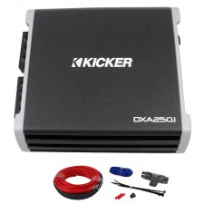 Kicker DXA250.1 250 Watt RMS Mono Amplifier + 09DPK8 Amp Kit + Extended Warranty
