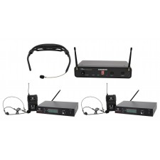 Samson Airline 88 Headset Wireless UHF Microphone Fitness System+2) Free Systems