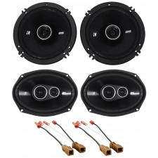 Kicker Front+Rear Speaker Replacement Kit For 2000-2004 Nissan Xterra