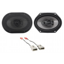 """Front Rockville 6x8"""" Factory Speaker Replacement Kit For 93-02 Mazda 626"""