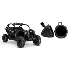 """6.5"""" Roll Bar Roll Cage Tower Speaker Enclosure Pods for Can-Am Maverick X3"""