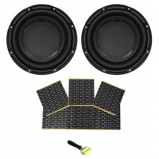 "(2) Polk Audio DB1042SVC 10"" 2100w Single 4-Ohm Car Audio Subwoofer Sub+Rockmat"