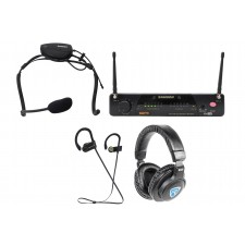 Samson Airline 77 Wireless Fitness Aerobics Headset UHF Microphone Mic+Speakers