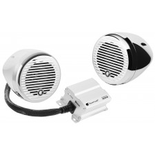 "Planet Audio PMC2C (2) 3"" Motorcycle/ATV Bluetooth Handlebar Speakers+Amplifier"