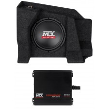 "10"" Sub+Mini Amp For 07-15 Chevrolet Silverado/GMC Sierra 1500/2500 Double Cab"