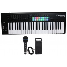 Novation LAUNCHKEY-49-MK2 49-Key USB MIDI Keyboard Controller+Mic+Case+Cable