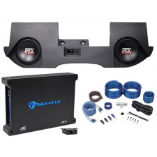 "2002-2016 Dodge Ram Quad/Crew Cab Dual 10"" MTX Subwoofers+Enclosure+Amp+Wire Kit"