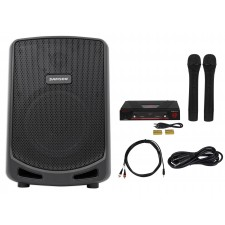 "Samson 6"" Portable Powered YouTube Karaoke Machine/System w/2 Wireless Mics"