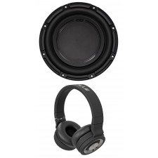 "Polk Audio DB1042DVC 10"" 1050 Watt Car/Marine Audio Subwoofer Sub+Headphones"