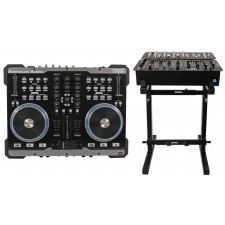 American Audio VMS2 USB MIDI DJ Controller With Touch Scratch Wheel VMS702+Stand