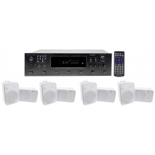 "Technical Pro 6000w (6) Zone Receiver+(8) 6.5"" Speakers For Restaurant/Bar/Café"