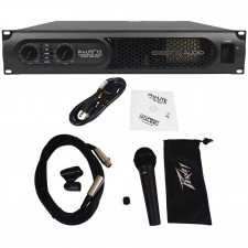 Crest Audio ProLite 7.5 7580 Watt Professional Power Amplifier+Peavey Microphone