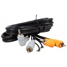 Hosa CRA-201DJ Dual RCA-RCA + Turntable Ground 3 Foot Cable
