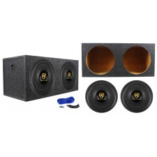 "(2) Rockville W15K9D4 15"" 10,000w Car Audio Subwoofers+Sealed Sub Box Enclosure"
