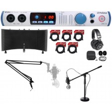 PRESONUS STUDIO 192 MOBILE Interface+Mic+Headphones+Shield+Boom+Stand+Cables