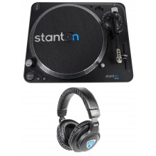 Stanton T.62 M2 Direct-Drive Straight-arm DJ Turntable+300 cartridge+Headphones
