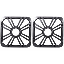 "(2) Kicker 11L710GLC 10"" Charcoal Grilles w/LED For SoloBaric 11S10L7 Subwoofers"