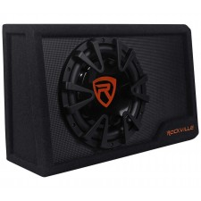 Rockville RWS10CA Slim 1000 Watt 10 Amplified Powered Car Subwoofer Enclosure