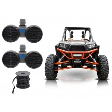"2) Rockville DWB65B Dual 6.5"" Tower Speakers for Polaris RZR/Jeep/ATV/UTV/Cart"
