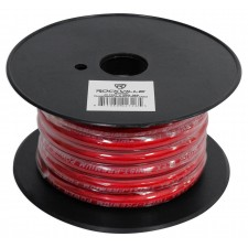 Rockville R4G20R Red 4 AWG Gauge 20 Foot Car Amp Power/Ground Wire Spool