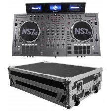 Numark NS7III Four Deck DJ Controller W/3 LCD'S+Serato DJ Software + Travel Case