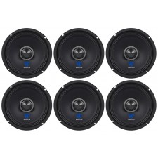 """(6) Rockville RXM64 6.5"""" 900w 4 Ohm Mid-Bass Drivers Car Speakers, Kevlar Cone"""
