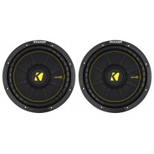"2) KICKER 44CWCD104 CompC 10"" 1200w Dual 4-Ohm Car Audio Subwoofers Subs CWCD104"