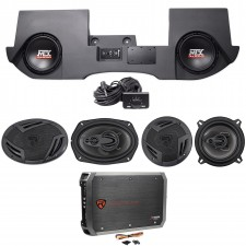"2002-16 Dodge Ram Quad/Crew Cab Powered 10"" MTX Subs+Box+Front+Rear Speakers+Amp"
