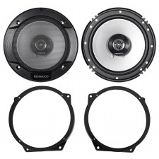"""Kenwood 6.5"""" Front Factory Speaker Replacement +Adapters For 02-08 Mini Cooper"""